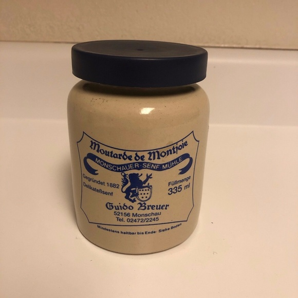 Monschau Mustard Ceramic Container with Lid